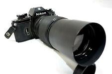 Nikon EM 35mm SLR Camera w/ Konica Hexanon AR 200mm f/3.5 Lens
