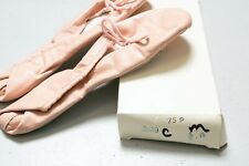 Ballet Slippers Deadstock Pink Leather Dance Shoes Flats 7 1/2 A