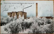 Dayton, OH 1913 Postcard: NCR National Cash Register Plant in Winter - Ohio