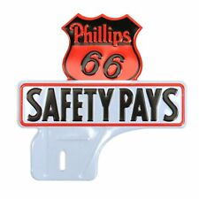 Phillips 66 License Plate Topper fits hot street rat rods muscle cars sbc v8 vw