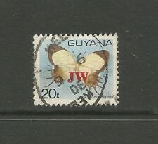 Guyana 1983 Butterfly Overprint, used.  Guyana Airways 20th Anniversary.  SG1137