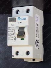 Europa EUR1 25 A 30 mA EUR1 25.30/2 interruptor de circuito RCD RCCB-PROBADO