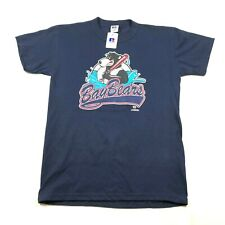 Mobile BayBears Youth Boys L Navy Blue T Tee Shirt Crew Neck Large Logo NWT