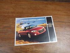 PROSPEKT BROCHURE AUTO CATALOG SALES CATALOGUE : CHRYSLER SEBRING CABRIOLET 2003