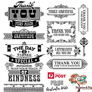Thank You Stamps - Thanks, Gratitude, Truly Grateful, Kindness, Appreciation