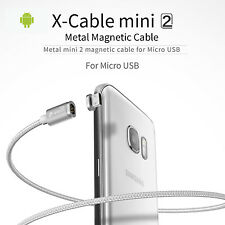 WSKEN Metal Magnetic X-cable & Data Sync Cable for Most Micro USB Smartphone