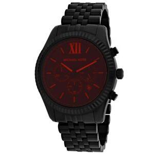 Michael Kors Man's MK8733 Lexington Black Stainless Steel Watch