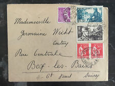 1936 France cover to Montreal Canada Multi Franked semi Postals
