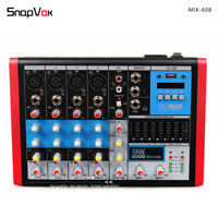6 Channels Audio Mixer Mixing Console Desk EQ MP3 USB Mic XLR Line Input DJ 48V