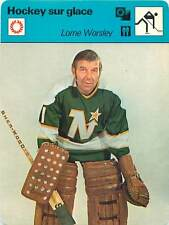 FICHE CARD: Lorne Worsley Canada Gardien de but Goaltender  ICE HOCKEY 1970s