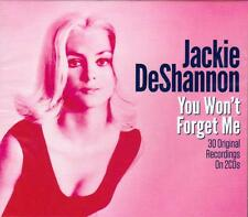 JACKIE DESHANNON - YOU WON'T FORGET ME - 30 ORIGINAL RECORDINGS (NEW SEALED 2CD)