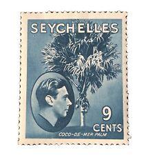 SEYCHELLES, SCOTT # 131,9c. VALUE PEACOCK BLUE KGV1 MVLH