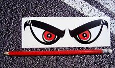 ANGRY EYES / Evil eyes Helmet Stickers Moto GP Superbikes DUCATI 75MM Visor Eyes