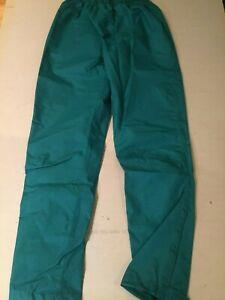 Road Runner Sports Women's R-Gear Element Rain Pants; Medium Teal 100% Polyester