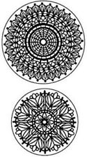 Inkadinkado Lace Doilies Round border trim Decor Set Cling Rubber Stamp