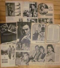 James Mason, Lot of SEVEN Vintage Clippings