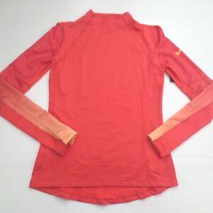 Nike Women Hyperwarm Shirt - 916969 - Peach 850 - Size S - NEW