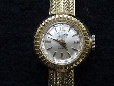 damen armbanduhr gold 585 14Kt Optima swiss Vintage