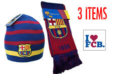 Barcelona Scarf Reversible and Beanie Reversible  + Sticker New Season Messi 10