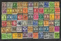 66 U S Precancel Stamps Used Chicago, New York