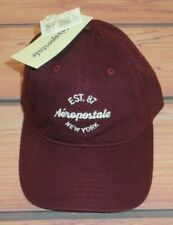 MENS AEROPOSTALE MAROON BURGUNDY HAT ADJUSTABLE CAP