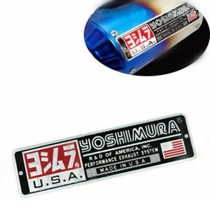 Motorcycle Exhaust Pipe Sticker Yoshimura USA Decal Aluminum Heat resistant 1pc