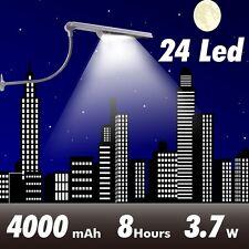 Outdoor Lighting 4000MAH 24LED Solar Street Light Garden Pathway Wall Lamp