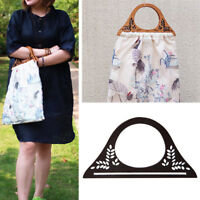 Wood Handle Purse Frame Wooden Bag Handle DIY Handbag Accessories