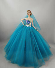 Fashion Party Dress/Wedding Clothes/Gown+Veil For Barbie Doll S604