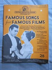 FAMOUS SONGS from FAMOUS FILMS 1950s MUSIC SONG BOOK!