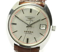 LONGINES Admiral 5 Star Date cal.505 Silver Dial Automatic Men's Watch_572805