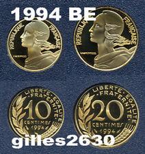 FDC : 10 et 20 centimes Marianne 1994 neuves du coffret BE
