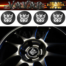 HOT 4pcs 60mm Transformers Deception Wheel Center Hub Caps Emblem Badge Stickers