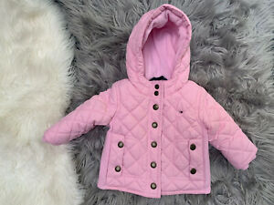Pink Quilted Hooded Tommy Hilfiger Baby Girl Jacket Size 3-6 Month