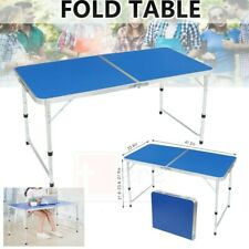 Aluminum Folding Table 4' Portable Indoor Outdoor Picnic Party Camping Tables