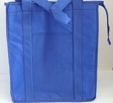 INSULATED REUSABLE GROCERY BAG - ROYAL BLUE - Recyclable Thermal Shopping Tote