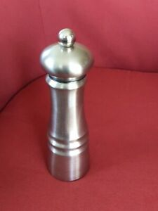 """8""""  Stainless Steel Pepper Grinder Trudeau gently used"""