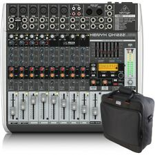 Behringer Xenyx QX1222USB 16-Input PA Mixer + Gator Padded Equipment Carry Bag