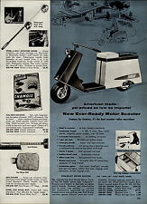 1959 PAPER AD Ever Ready Ever-Ready American Made Motor Scooter 4 HP 4 Cycle