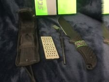 Schrade Frontier Extreme Survival Bowie Knife 1095HC Sharpener Fire Rod SCHF37