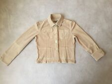 DOLLHOUSE Trendy Tan Corduroy Fitted Jacket Juniors Size L Large