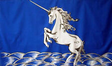 5' x 3' Blue Unicorn Flag Scotland Scottish Emblem Mystical Magical Horse Banner