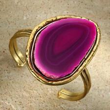 New Tara Mesa Pink Banded Agate Cuff Bracelet