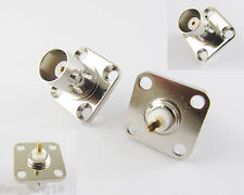 10x BNC Female w/4 holes Flange Panel Chassis Mount Coaxial Solder RF Connector