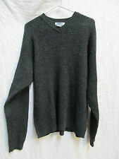 NEW WITH TAGS MEN'S OLD NAVY SWEATER DARK GRAY SIZE LARGE V-NECK ACRYLIC/WOOL