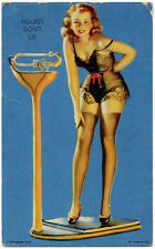 Figures Don'T Lie Gil Elvgren Cheesecake Pin-Up Mutoscope Card Very Rare (1940'