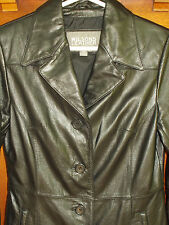 Wilsons Leather Jacket XS Womens Black Lined Coat Classic WC6