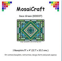 MosaiCraft Pixel Craft Mosaic Art Kit 'Deco Green' Pixelhobby