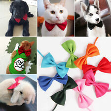 2Pcs Fashion Cute Pet Dog Cat Neck Bow Tie Puppy Necktie Bowknot Pet Supplies