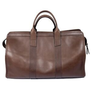 Frank Clegg Signature Duffle Bag, Chestnut Brown, Excellent Condition